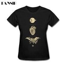 I 3 Cthulhu Shirt Woman Fashion Short Sleeve 100% Cotton T S