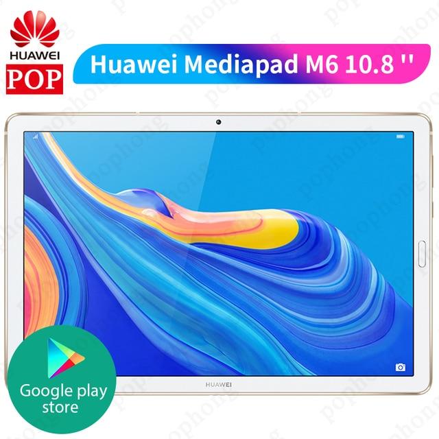 Huawei Mediapad M6 10.8 Kirin 980 ثماني النواة 4GB 128GB اللوحي 7500mAh بصمة جوجل اللعب أربعة مكبر الصوت GPU توربو 3.0