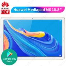 Huawei Mediapad M6 10.8 Kirin 980 Octa çekirdek 4GB 128GB tablet PC 7500mAh parmak izi Google play dört hoparlör GPU Turbo 3.0