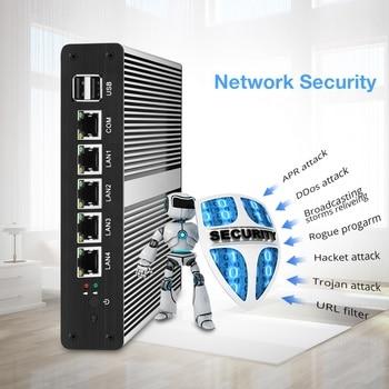 Cheap mini Computer pfense Router J1800 dual core industrial PC Linux vga 4 gigabit Lan firewall