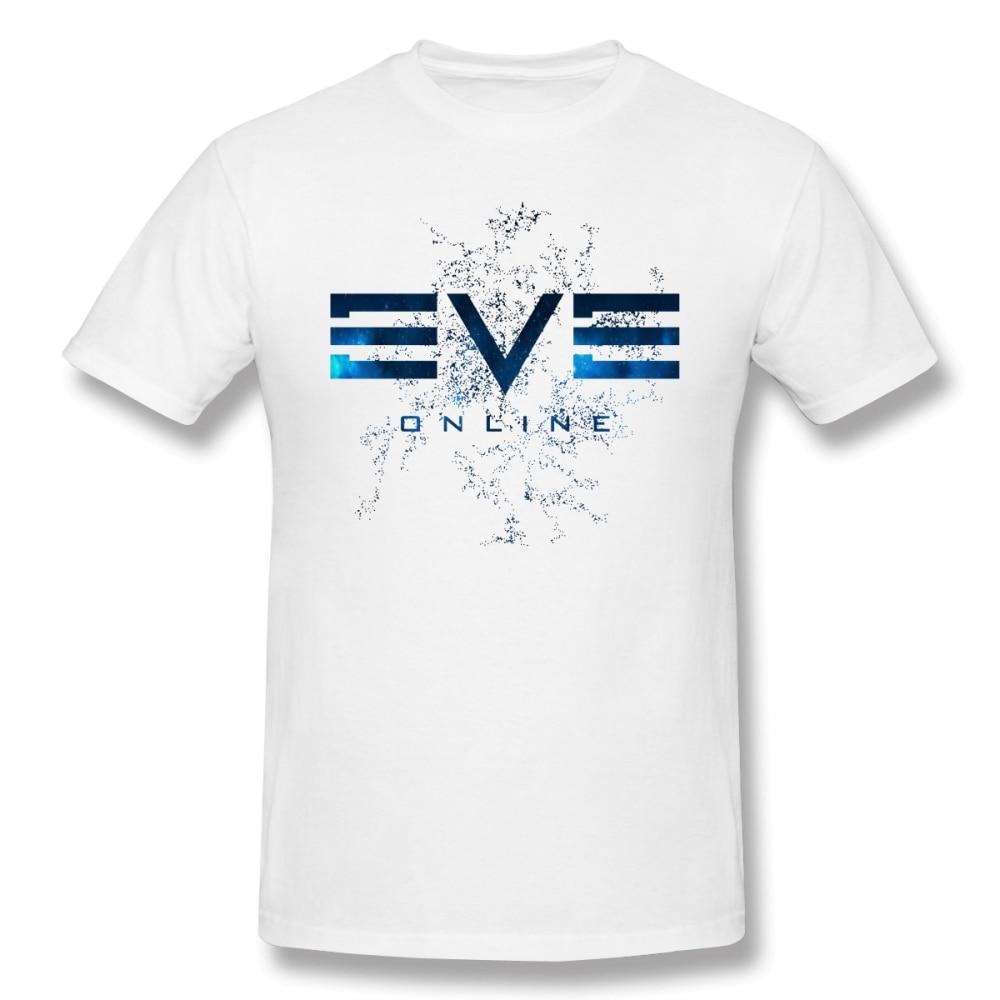 Eve Online T Shirt Eve Online T-Shirt Streetwear Mens Tee Shirt Awesome Print 100% Cotton Short Sleeve Tshirt