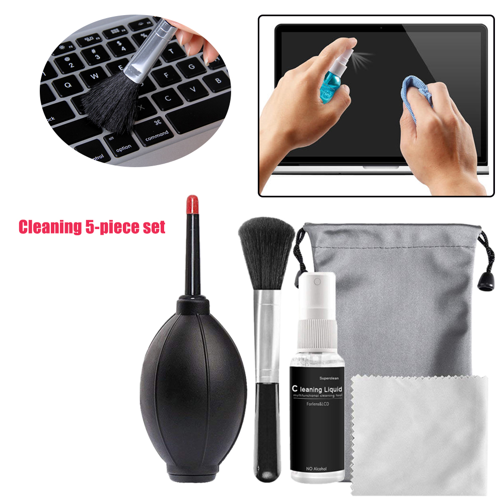 Portable Screen Keyboard SLR Camera Lens Cloth Fast Cleaning Desktop With Air Duster Phone Computer Cleaner Set Home Laptop image