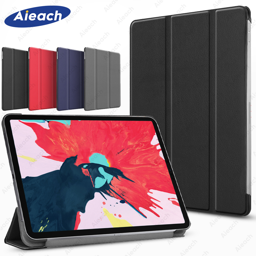 Aieach Ultra Slim Leather Case For IPad Pro 11 2020 2th Generation Cover With Sleep Magnetic Trifold Case For IPad Pro 12.9 4th