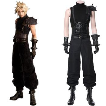 Remake Final Fantasy VII Cloud Strife Costume FF Cloud Cosplay Uniform Outfit Adult Halloween Carnival Costume Men Women Custom 1