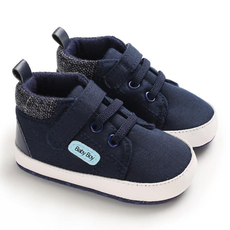 Autumn Baby Shoes New Kid Boy Girl Canvas Cotton First Walker Anti-slip Soft Sole Toddler Sneakers 1 Pair