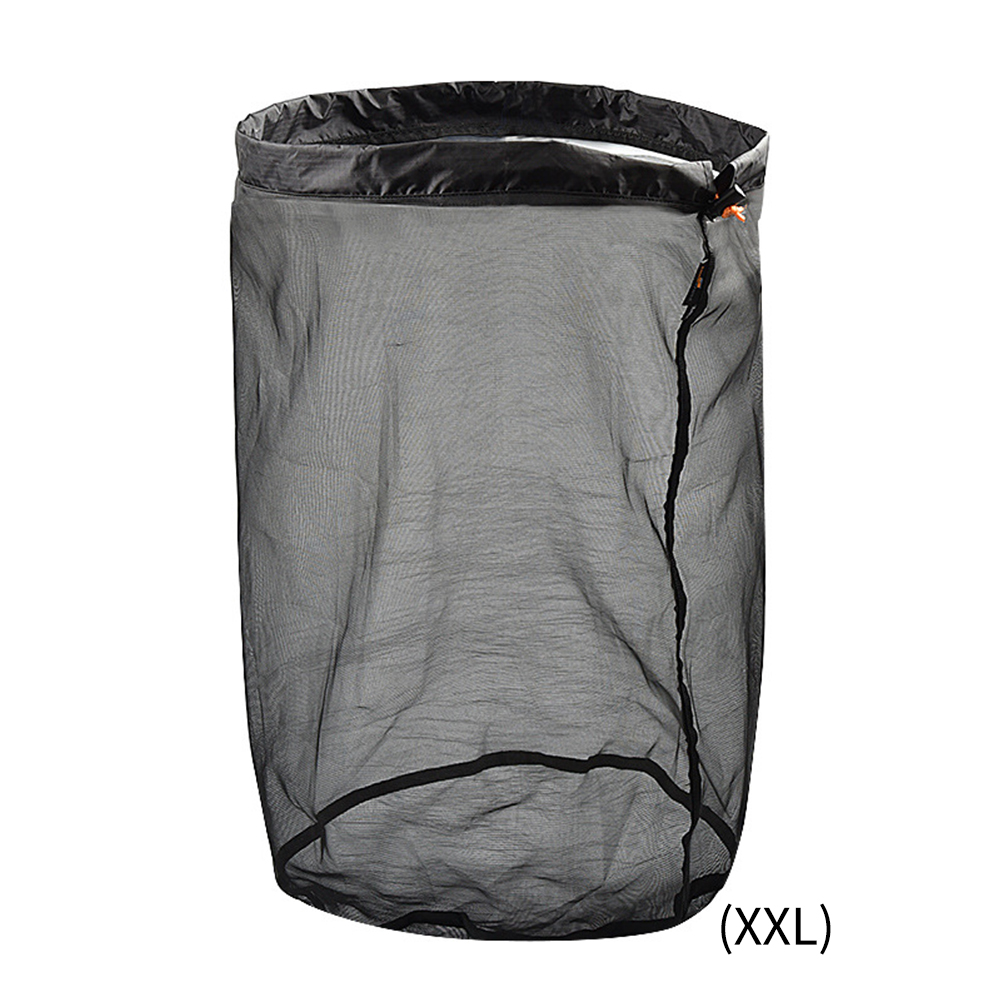 Camping Home Ultralight Drawstring Toys Mesh Storage Bag Hiking Tool Traveling Organizer Stuff Foldable Outdoor Sports Sack