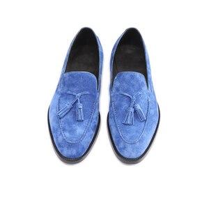 Image 4 - 革の靴男性本物の革のファッションの結婚式の高級ブランドフォーマルパーティーローファーメンズカジュアルシューズ