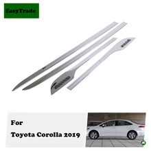 For Toyota Corolla 2019 accessories Car styling ABS Chrome Car Door Body Side Protector Trim Strip Anti-rub Exterior Accessories цена и фото
