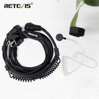 Extensible Retevis PTT Throat Micrófono Auricular Auricular Para Kenwood Para TYT Walkie Talkie De Baofeng UV-5R H777 RT5R RT7 RT22