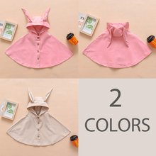 2019 Spring Autumn Warm Cotton Outwear Cloak Button Jacket Coat Jacket For Girls Kids Baby(China)