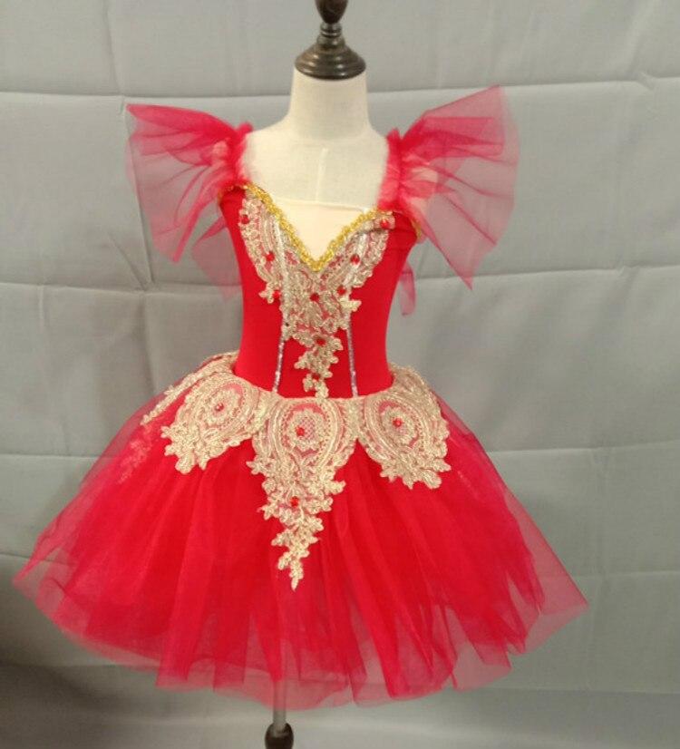 Étincelant longue ballerine robe enfant enfants Style romantique Ballet danse Costume pour femmes filles doux Tulle Tutu gymnastique justaucorps - 3