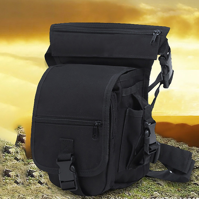 Nylon Men'S Multi-Purpose Leg Bag Outdoor Multi-Purpose Cycling Bag Mountaineering Fishing Pocket