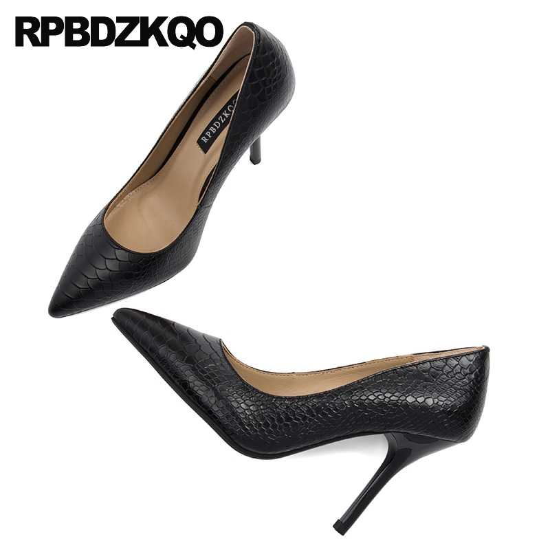 stiletto pointed toe 3 inch brand pumps
