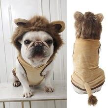 Roupas para cães outono e inverno gato roupas para cães macacões para animais de estimação bonito natal cosplay leão roupas chihuahua yorkshire