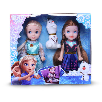 Disney 16cm Frozen Princess Barbie Queen Princess Elsa Anna Toy Doll Anime Character Action Gift Birthday Gift 2019 genuine disney frozen elsa anna princess doll snow queen children girls toys birthday christmas gift original high quality