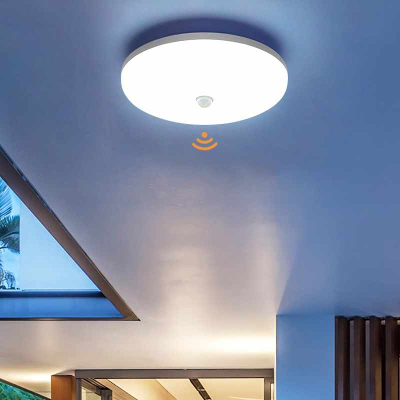 Pir Sensor Led Panel Lamp 36W 24W 18W 13W 9W Plafond Surfacemounted Verlichting 85-265V Keuken Slaapkamer Foyer Gang Ceilinglight