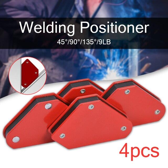 4 unids/lote 4 abrazadera de flecha magnética de soporte cuadrado 45 90 135 9LB abrazadera magnética para herramientas eléctricas de soldadura de hierro