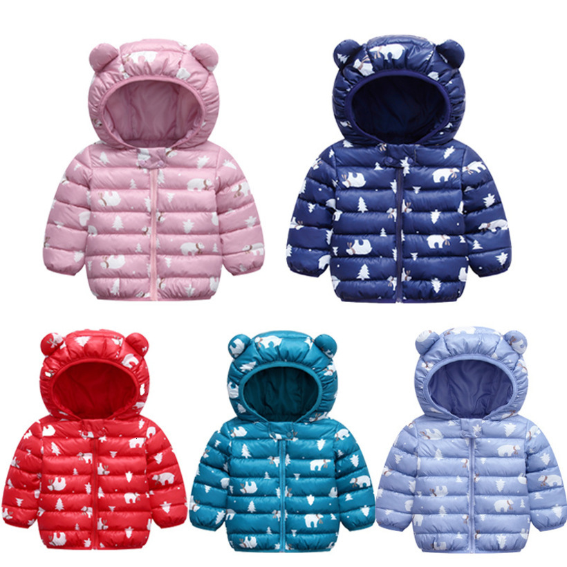 2019 Winter Baby Coat Toddler Boy Girl Jacket Warm Baby Hooded Coat Light Newborn Baby Clothes Snow Wear Kids Down Jackets