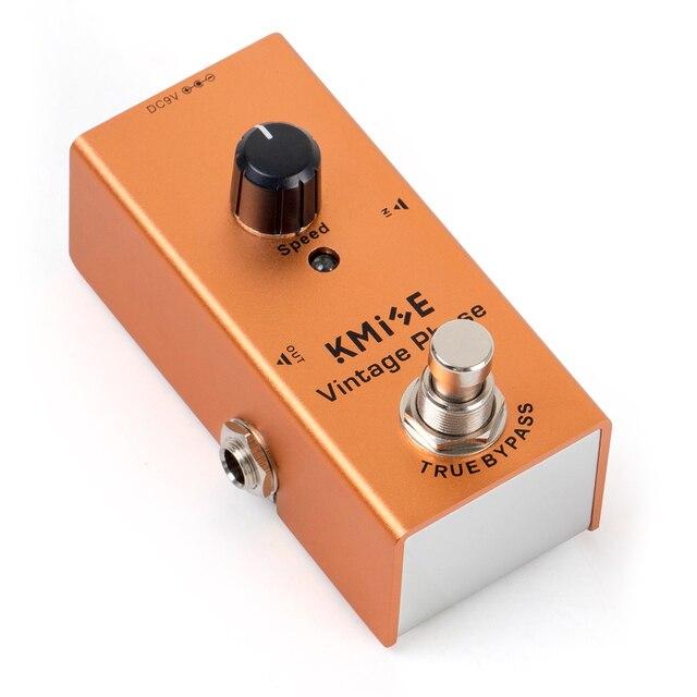 Kmise גיטרה אפקטים Phaser לגיטרה חשמלית DC 9V אחת מיני בציר Phaser פדאל