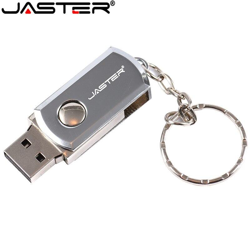 High Speed USB 2.0 JASTER USB Flash Drive 4GB 16GB 32GB 8GB 64GB 128GB Pen Drive Stainless Steel USB Memory Stick Pendrive