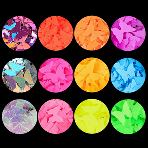 Image 4 - 21Pcs/Set Holographic Glitter Powder Shining Sugar Mix Colors Nail Glitter Hot Sale Dust Powder For Nail Art Decorations Tools