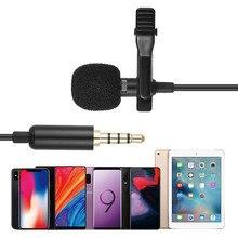 Tie-Clip Microphone Audio-Mic Lavalier Noise-Reduction Mini Lapel for Computer Laptop