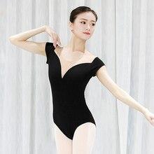 Ballet Leotards for Women 100% Cotton Soft Mesh Gymnastics Leotard Costumes