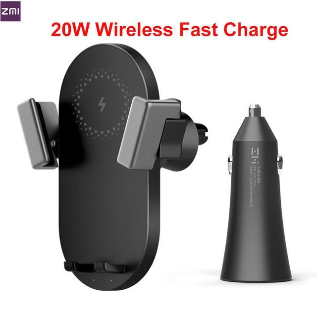 Zmi キット 20 ワット無線車の充電器電話ホルダー WCJ10 高速充電 11 xiaomi mi 9 サムスン 360 度電話ホルダー
