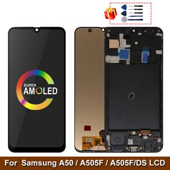 Super AMOLED do Samsung Galaxy A50 SM-A505FN DS A505F DS A505 wyświetlacz LCD z ekranem dotykowym Digitizer z ramką do Samsung A50 lcd tanie i dobre opinie MSMADE NONE CN (pochodzenie) Pojemnościowy ekran 3 For Samsung Galaxy A50 SM-A505FN DS A505F DS A50 LCD i ekran dotykowy Digitizer