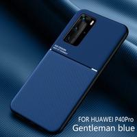 Funda de cuero con textura Mate para Huawei P40 Pro P30 P20 Nova 6 SE 5i 5T Mate 40 Pro 20 30 Lite Y9 Prime P Smart Z Plus