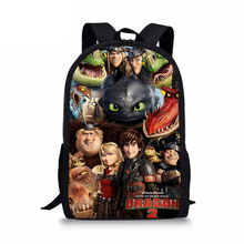 HaoYun Children's Backpack How to Train Your Dragon Pattern Students School Bag Cartoon Anime Design Teenagers Book-Bags Mochila how to train your dragon school bag noctilucous backpack student school bag notebook backpack daily backpack
