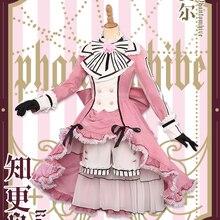 Новинка! Черный Дворецкий Ciel Phantomhive Лолита розовый карнавальный костюм новая ткань
