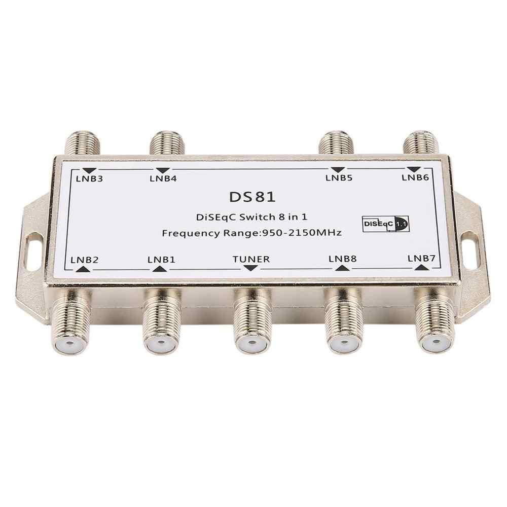 Offre spéciale DS81 8 en 1 Signal Satellite commutateur DiSEqC récepteur LNB Multiswitch robuste Zinc moulé sous pression chromé traité