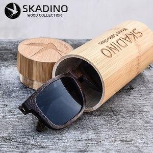 Image 3 - SKADINO gafas de sol polarizadas de madera de bambú para dama, lentes de sol polarizadas con protección UV400, a la moda, en color negro y gris, hechas a mano
