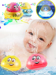 Bath-Toys Swimming-Toy Water-Light Shower Toddler Kids Spray Led-Flashing with Ball Gifts