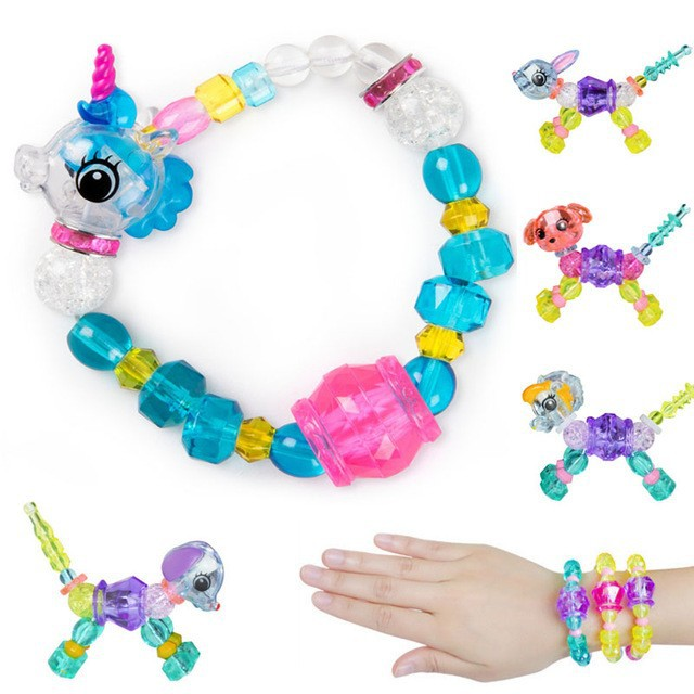 Chain Love Elf Children's Toys Handmade Beads Magic Handmade DIY Cute Magic Animal Variety Bracelet Necklace Girls Small Gifts