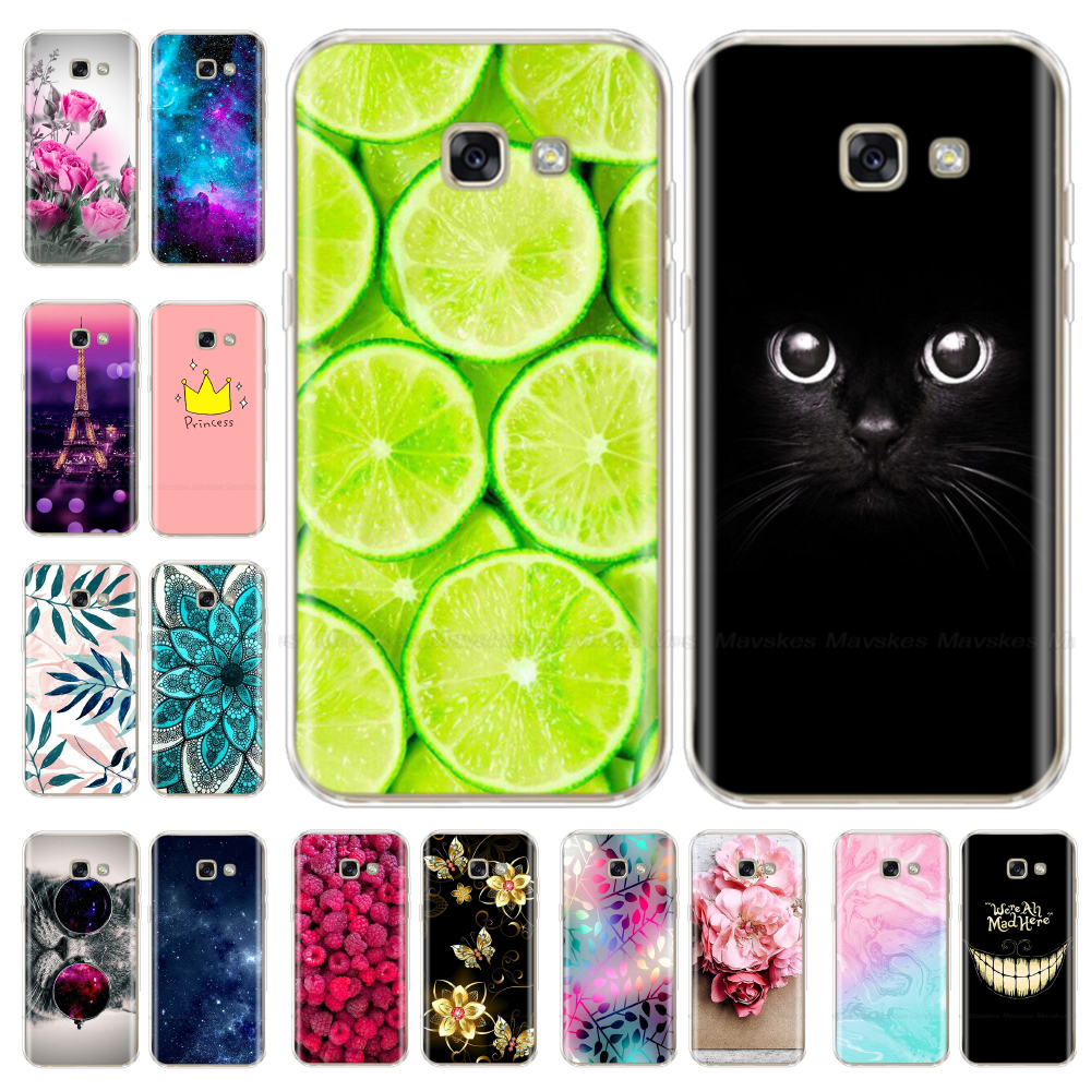 silicone Cases For <font><b>Samsung</b></font> <font><b>Galaxy</b></font> <font><b>A5</b></font> <font><b>2017</b></font> Cover Silicon Colorful TPU Back Case Cover For <font><b>Samsung</b></font> <font><b>A5</b></font> <font><b>2017</b></font> A 5 A520 <font><b>A520F</b></font> 5.2 inch image
