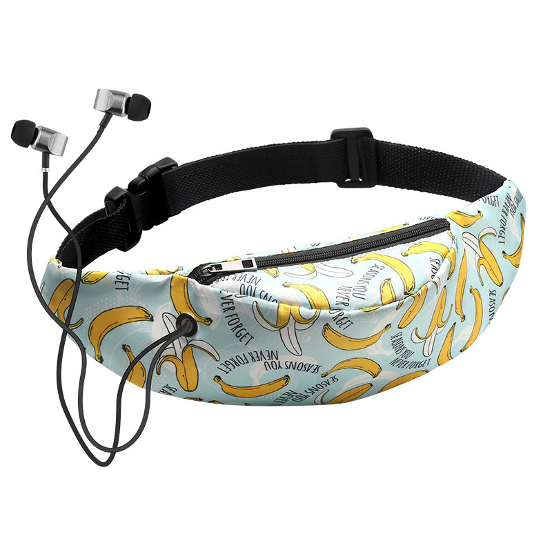 Banana Printed Pillow Women's Waist Bag Waterproof Belt Bags For Ladies Travel Phone Case Belt Wallet Fanny Packs Female Bum Bag