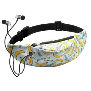 Banana Printed Pillow Women's Waist Bag Waterproof Belt Bags for Ladies Travel Phone Case Belt Wallet Fanny Packs Female Bum Bag(China)