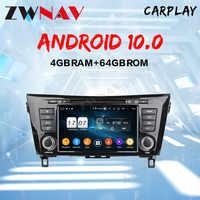 Radio multimedia con GPS para coche, Radio con reproductor DVD, DSP, Android 10, 4 + 64GB, para Nissan x-trail XTrail T32 Qashqai J11