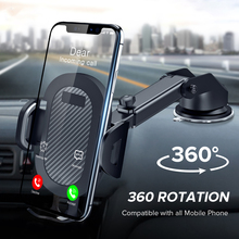 360 rotation automatically locking windshield mount car phone holder in car stand support for samsung iphone 3 styles 3 colors Phone Holder 360 Rotation Mount in Car Stand For Samsung Huawei No Magnetic Support Mobile Phone Sucker Car Phone Bracket