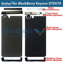 цена на For BlackBerry KEYone DTEK70 DTEK 70 Back Cover Battery Door Housing Flake Top UP Bottom Cover BackCover Phone Replacement
