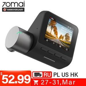 Оригинальный 70mai Dash Cam Pro английское Голосовое управление 1944P 70MAI Автомобильный видеорегистратор Камера gps ADAS 140FOV ночного видения 24H монитор п...