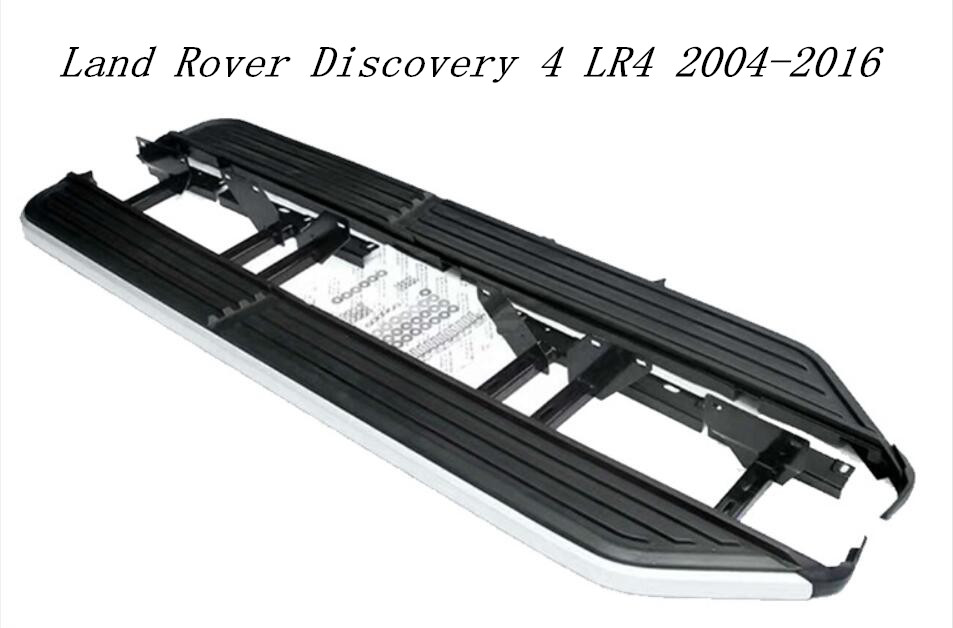 Aluminum Alloy + ABS Car Running Board Side Step Nerf Bar Guard Fits For Land Rover Discovery 4 LR4 2004-2016