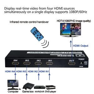 Image 5 - 4x1 HDMI Quad Screen Multiviewer HDMI seamless switcher HDMI multivierer screen splitter 1080P HD IR HDMI Switch