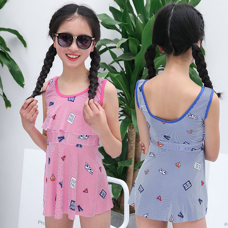 Girl'S Swimsuit Princess Dress-Children One-piece Boxers Korean-style New Style Baby Cute Bathing Suit Children GIRL'S