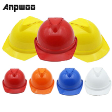 Cap Protective-Helmets Hard-Hats Construction-Work Safety ABS ANPWOO Customize-Logo Breathable