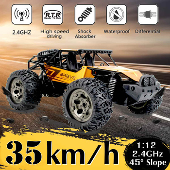 1/12 35Km/h RC Remote Control Car Off Road Racing Cars Vehicle 2.4Ghz Crawlers Electric Monster Truck Adults RC Car Toys 1