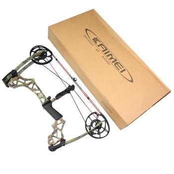 KAIMEI 270 Archery 40-60lbs Compound Bow 310FPS Arrow Steel Ball Dual Purpose Bow 80% Labor Saving Ratio For Hunting Shooting 5