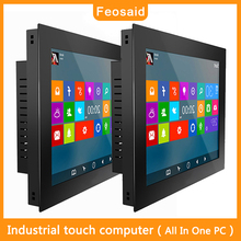 Feosaid 14 inch Embedded industrial computer mini PC core I3 I5 I7 Resistive touch screen SDD wifi com win7 win10 pro Linux